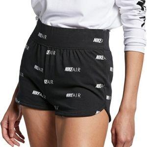 Nike Air Max Women's Black White Booty Gym Shorts